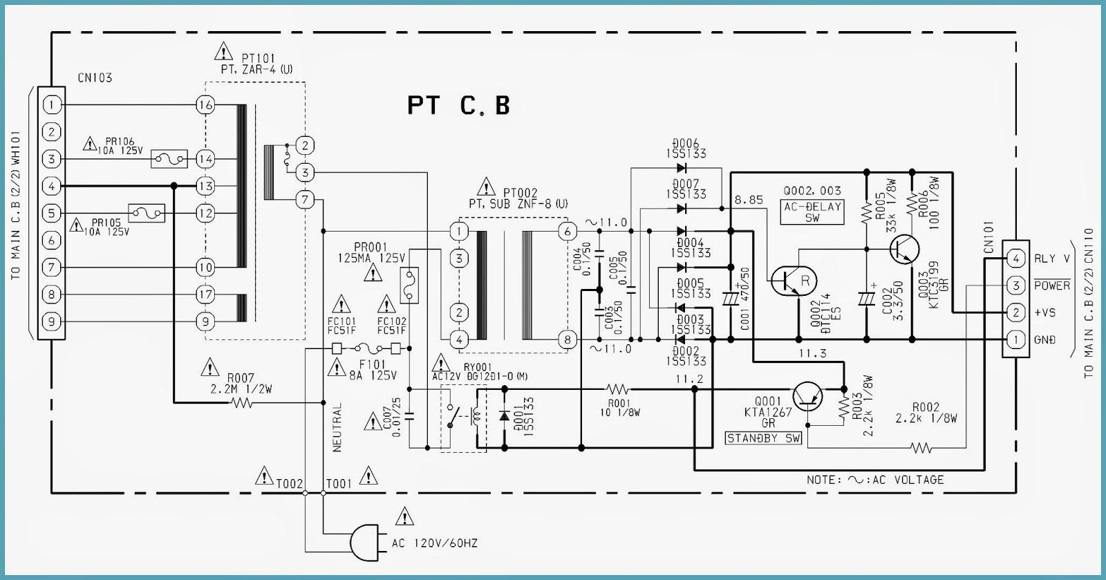 electro help  aiwa av s17u - stereo av receiver circuit diagram - power