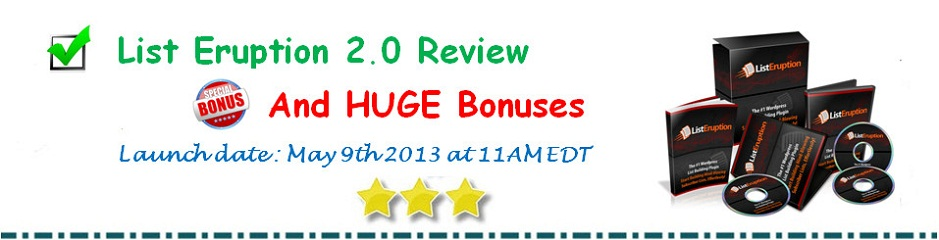 The Ultimate List Eruption 2.0 Review and Big Essential Bonuses $2700+
