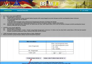 Daftar Online BR1M 2.0 2013
