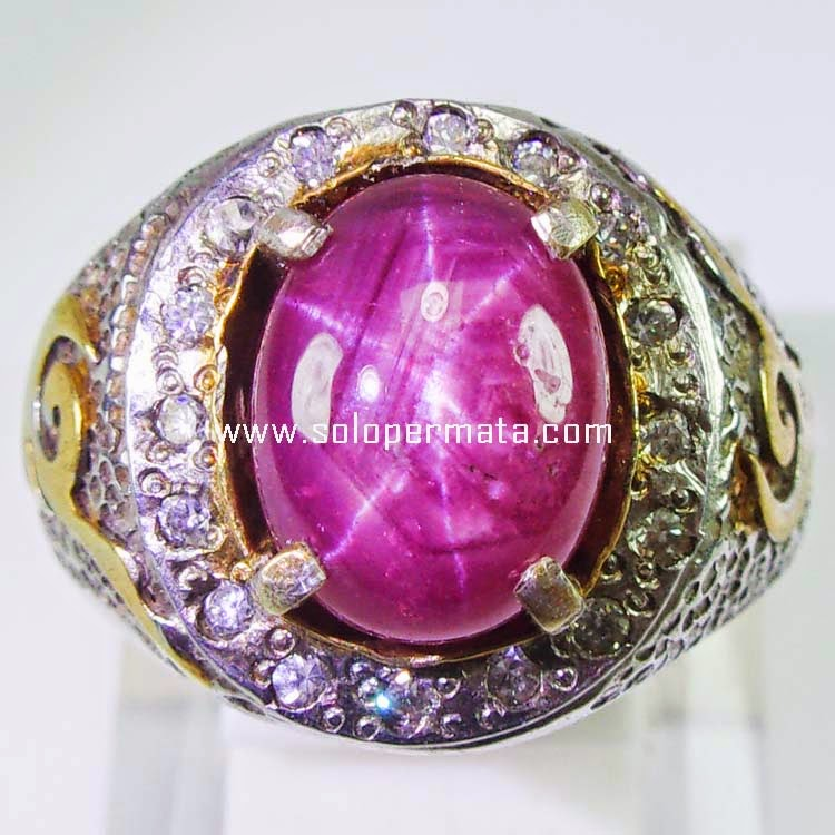 Cincin Batu Permata Ruby Star