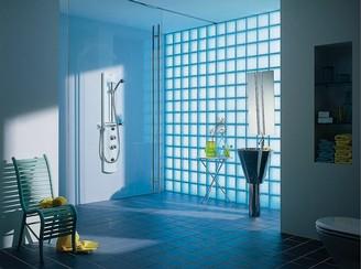 Decoraci n con ladrillos de vidrio ideas para decorar - Ladrillo de cristal ...