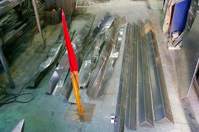 Proceso de elaboración de trabajo en acero corten