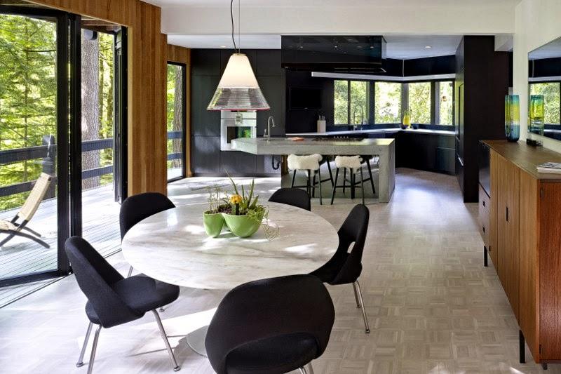 die wohngalerie minimalismus in schwarz und wei in portland oregon. Black Bedroom Furniture Sets. Home Design Ideas