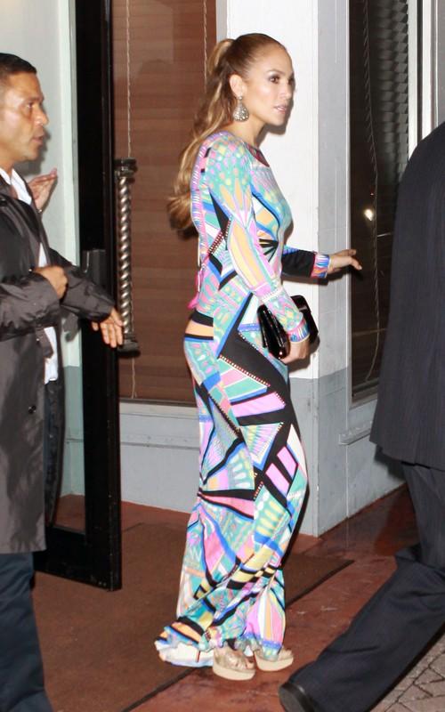 Jennifer Lopez's Booty in a Long Dress