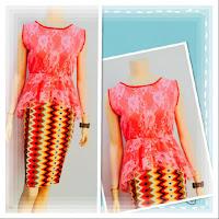 Baju Kebaya Broklat Motif Batik Rang Rang Pink
