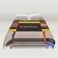 All Good Things Enterprise 1701 D - Star Trek: The Next Generation Duvet Covers