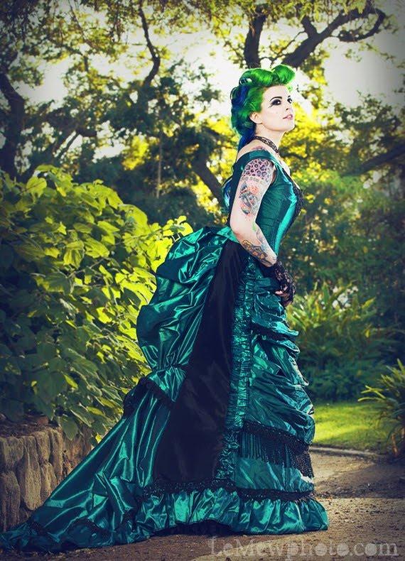Gothic Black wedding dresses