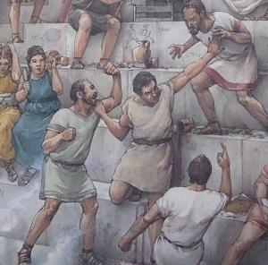 Bójka na trybunach Koloseum - fot. Tomasz Janus / sportnaukowo.pl
