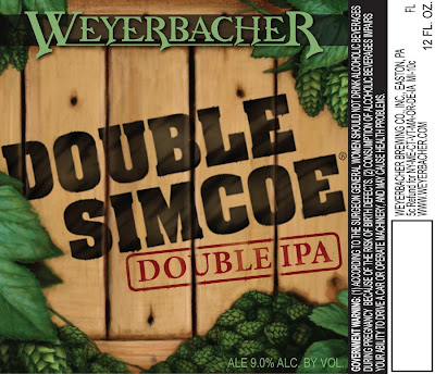 Weyerbacher Double Simcoe Label