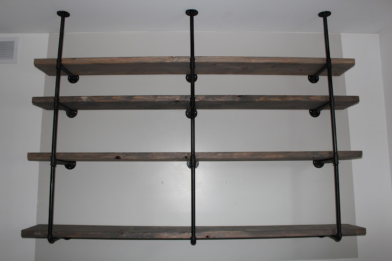 Industrial Pipe Shelves DIY