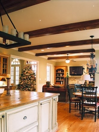 Decorative ceiling beams wood beams in the interior for Decorative beams in kitchen