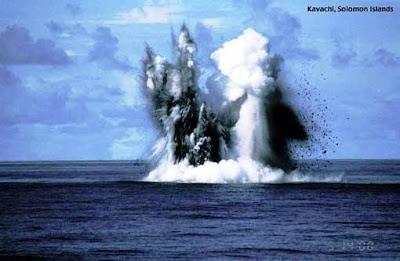volcán submarino Kavachi vulcano