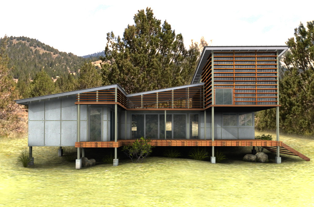 Eco friendly house new eco house plan for Sustainable house designs