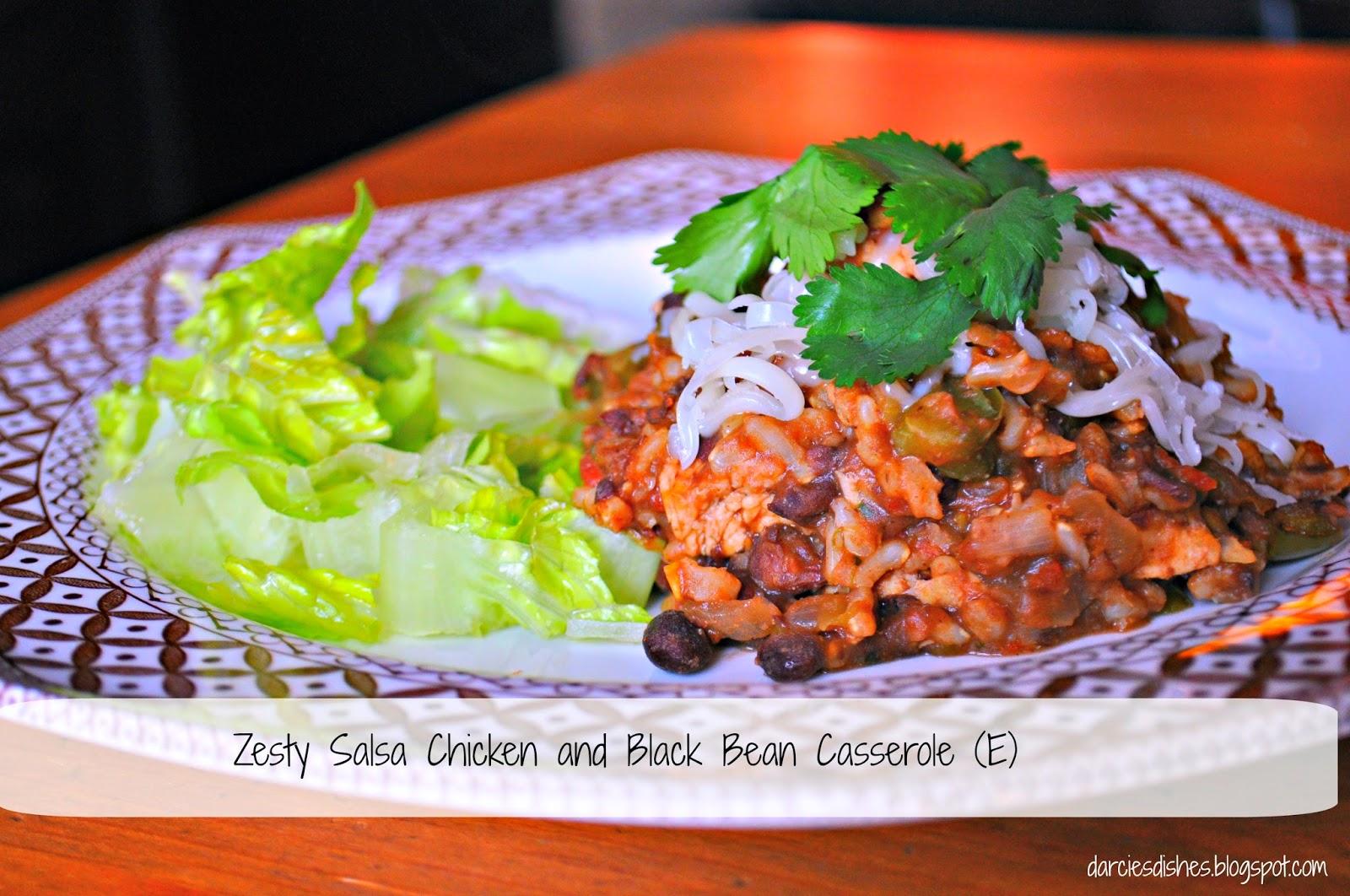 Darcie's Dishes: Zesty Salsa Chicken and Black Bean Casserole (E)