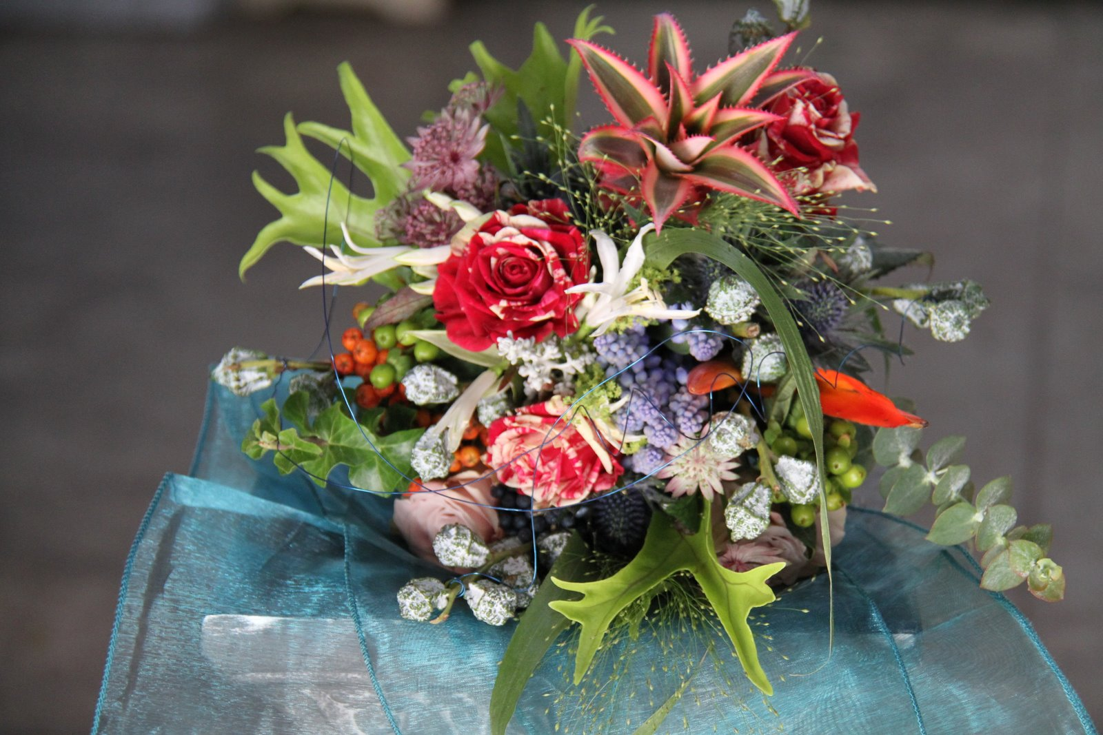 The Flower Magician: Vibrant Rainforest Wedding Bouquet to Tone with ...