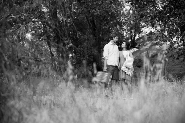 quiet like horses engagement photos