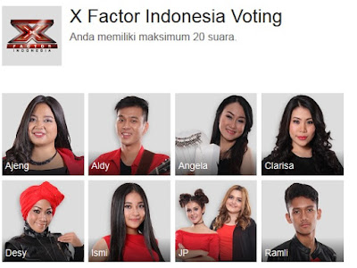 Vote Online X Factor Indonesia Voting  Via Google Plus Anda