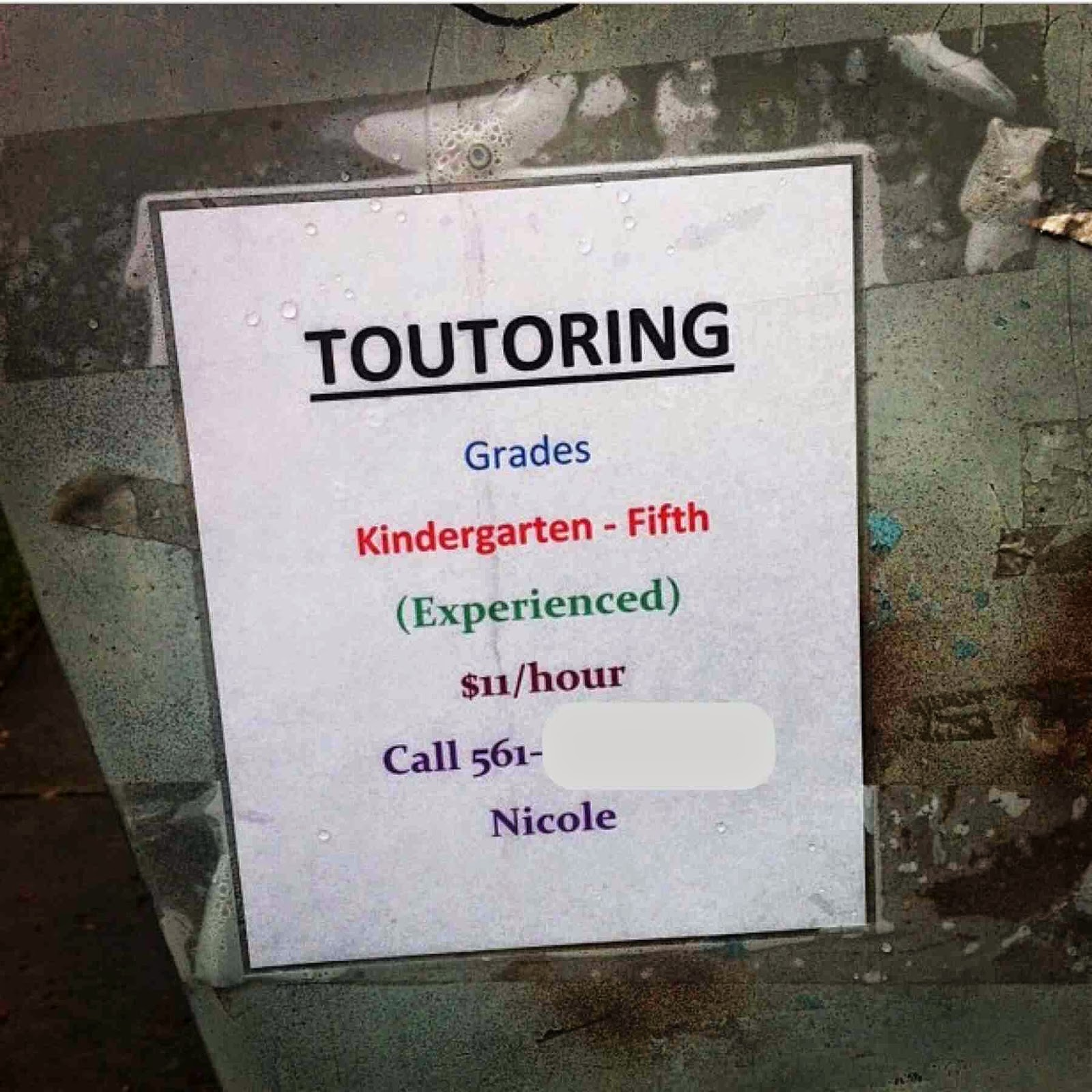 Start By Spelling Quot Tutoring Quot Right Dr Heckle