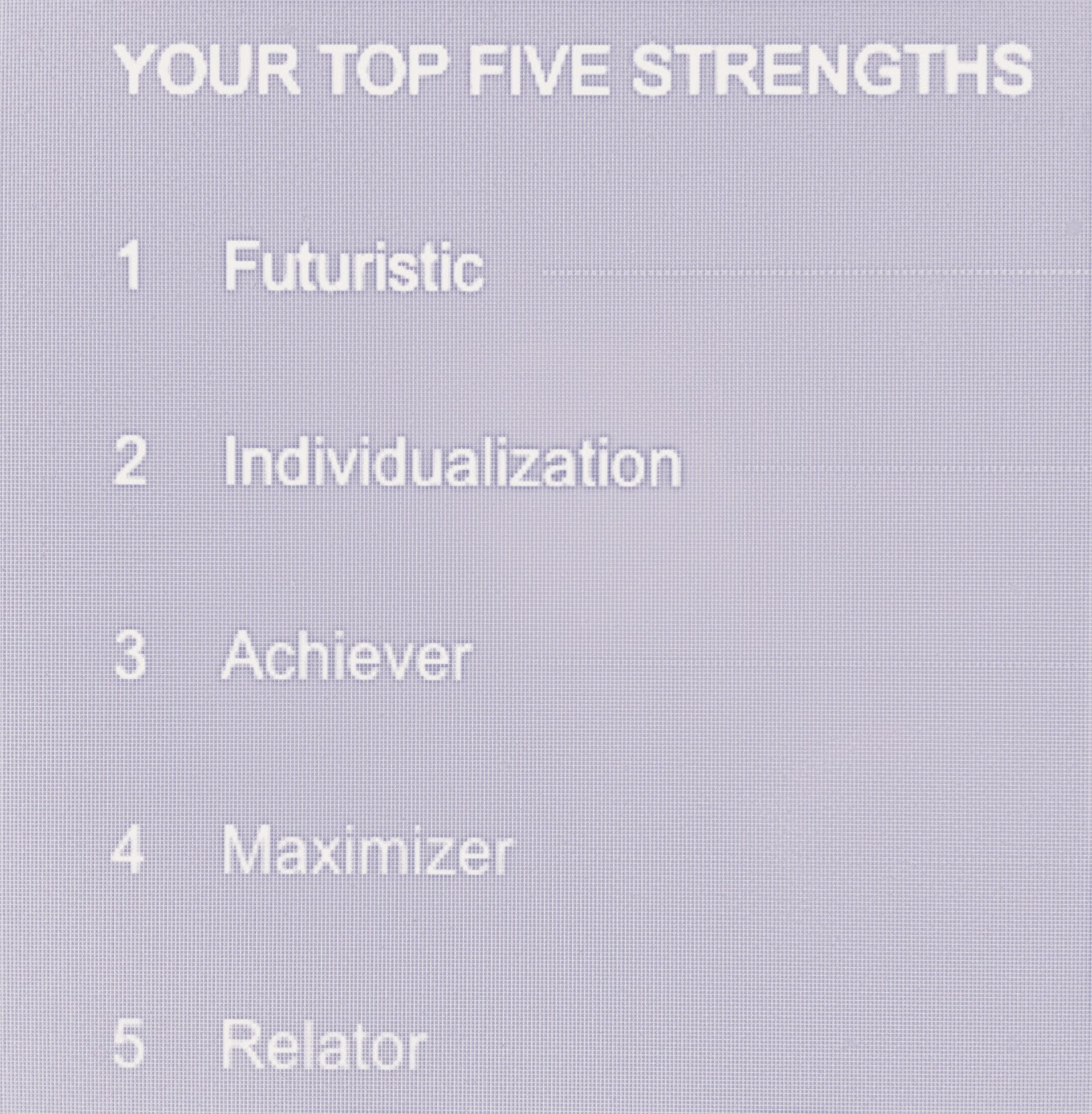 Gallup Strengths Finder Top 5