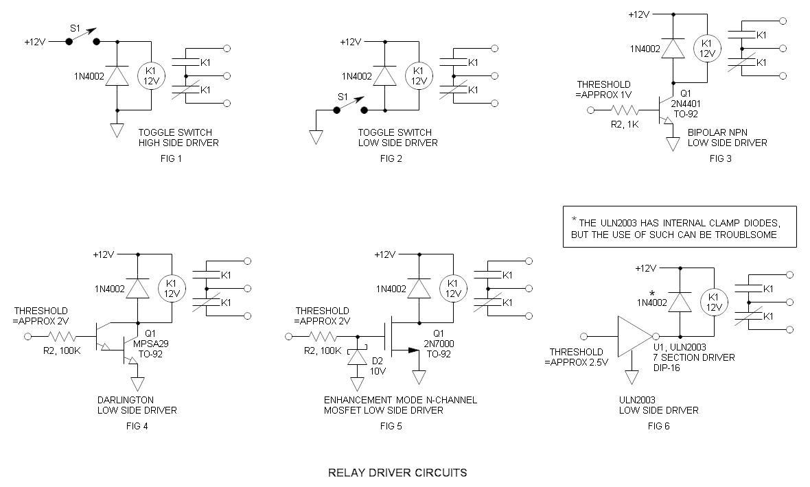 Conducteur relais schema electrique for Bascule transistor