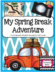 http://www.teacherspayteachers.com/Product/Spring-Break-Adventure-Homework-Packet-562080