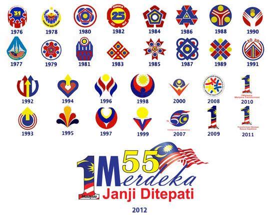 kalamhati selamat hari kemerdekaan ke 55 logologo hari
