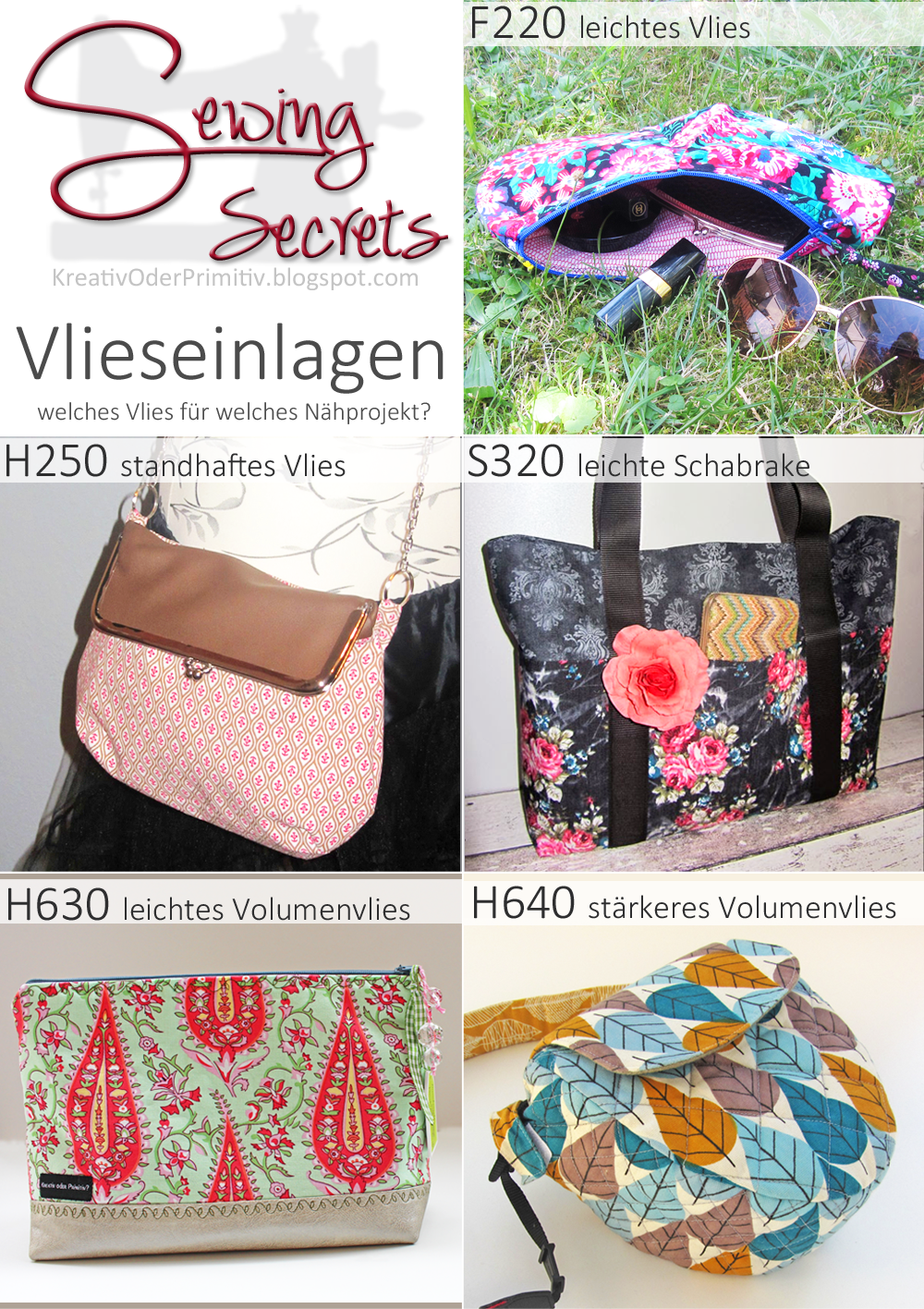 Kreativ oder Primitiv?: Sewing Secrets: Vlieseinlagen
