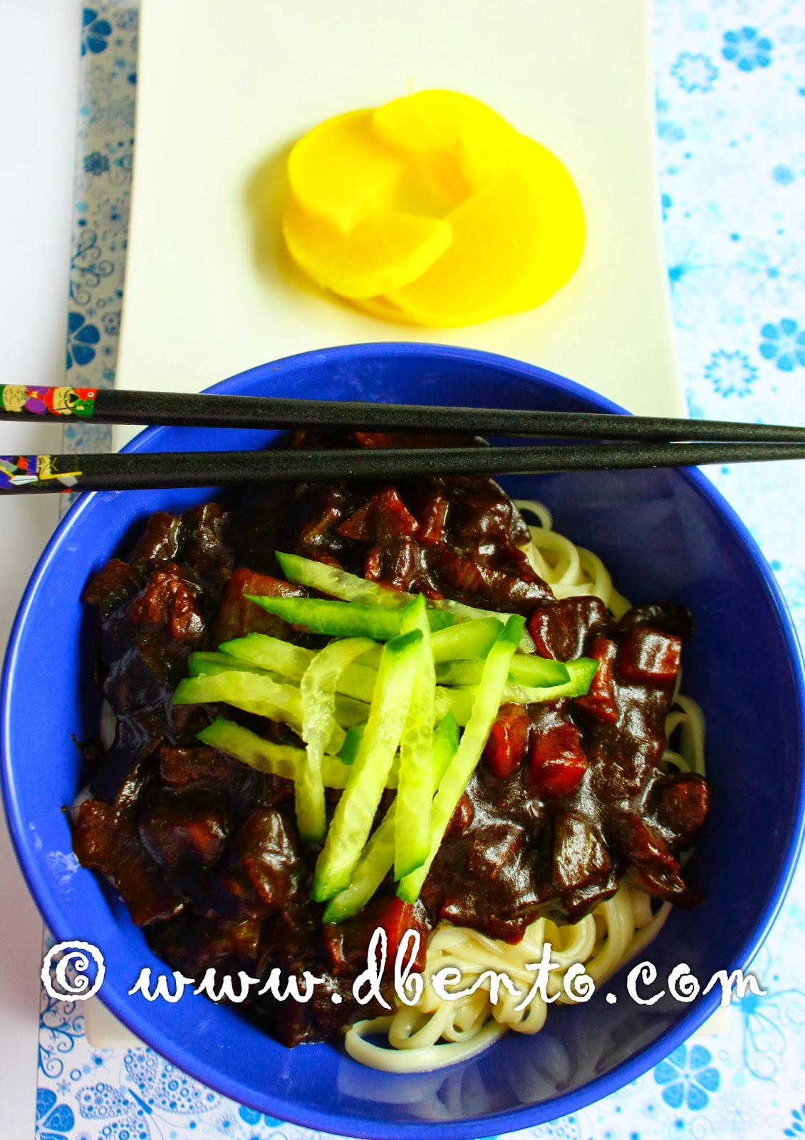Resep dan cara membuat jajangmyeon