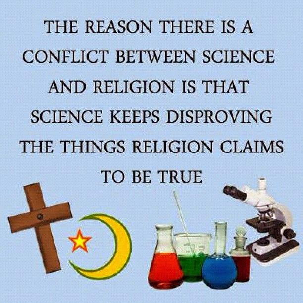 Religion Science Conflict Reason Quote Picture