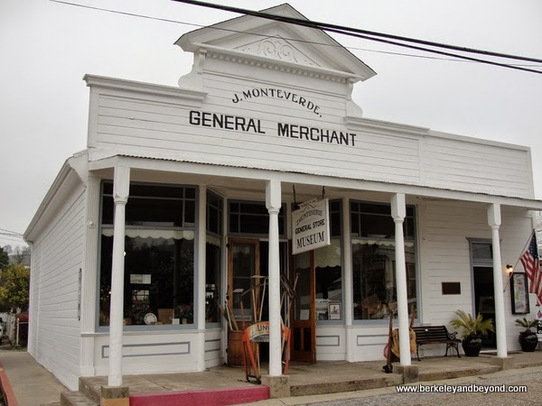 exterior of Monteverde General Store Museum in Sutter Creek, California