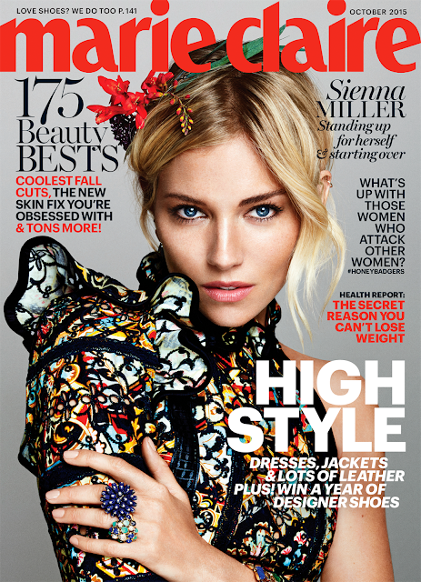 Actress, Model @ Sienna Miller - Txema Yeste for Marie Claire US, October 2015