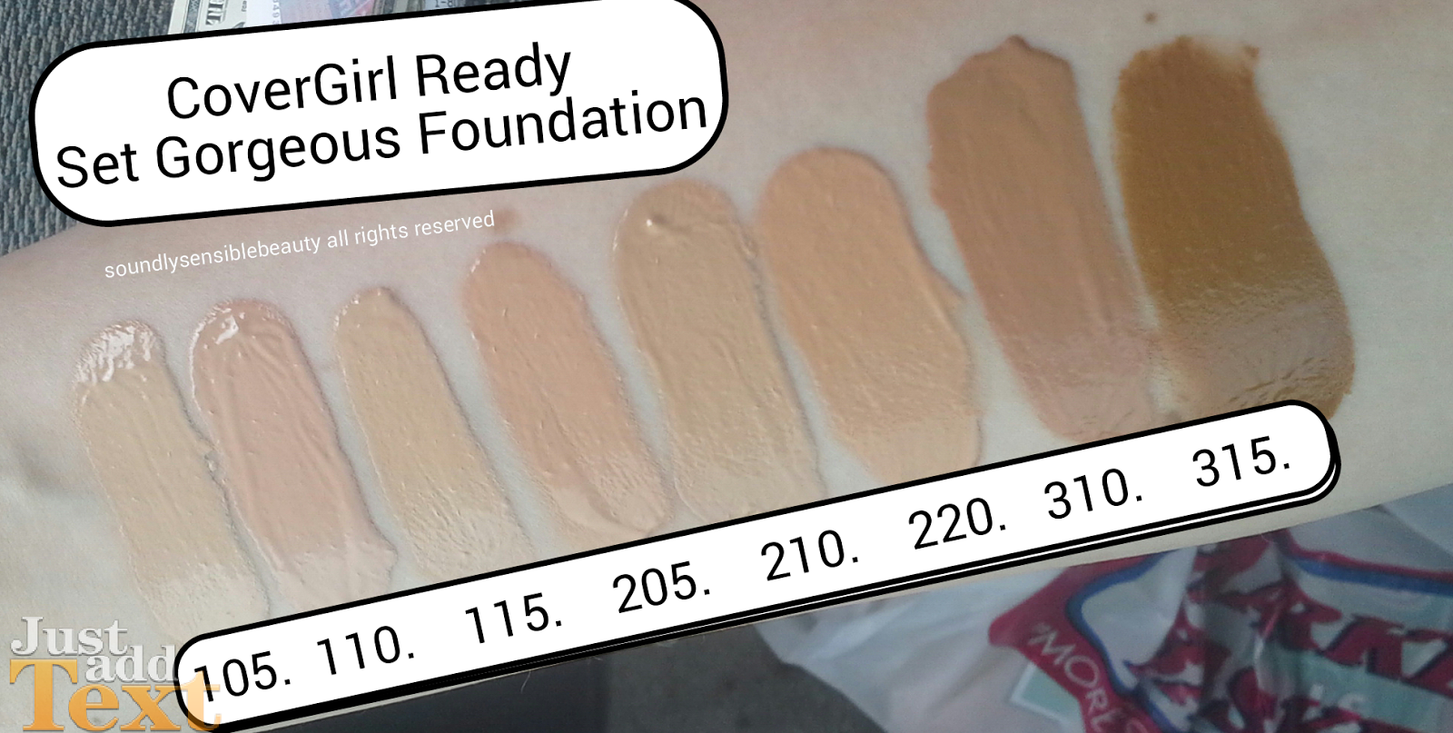 CoverGirl Ready Set Gorgeous Foundation; Review & Swatches of Shades