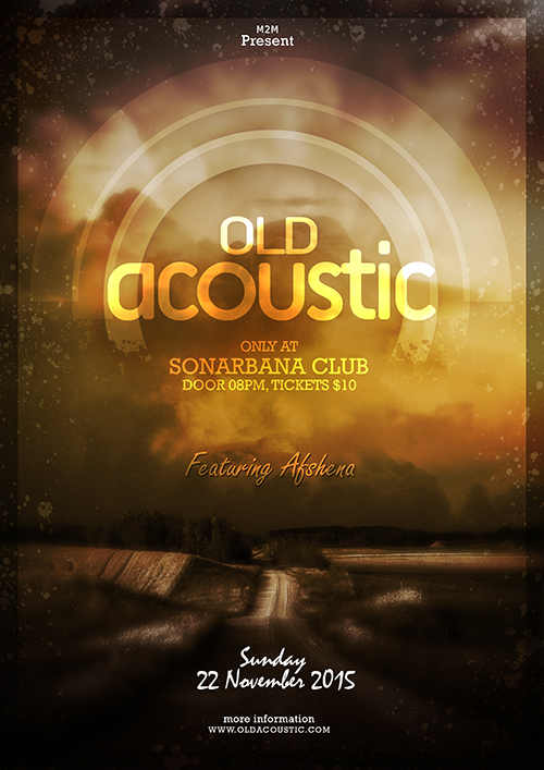 Create A Old Acoustic Poster In Photoshop