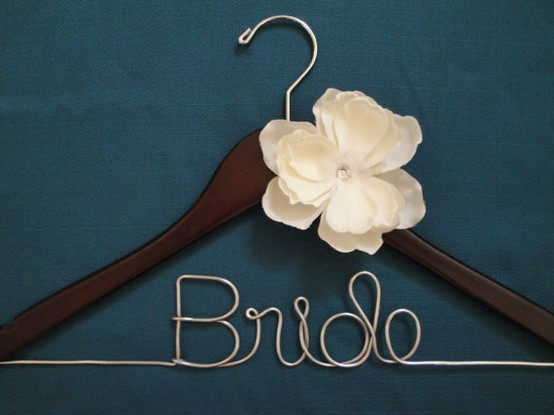 champagne and paper cups diy personalized bridal hangers