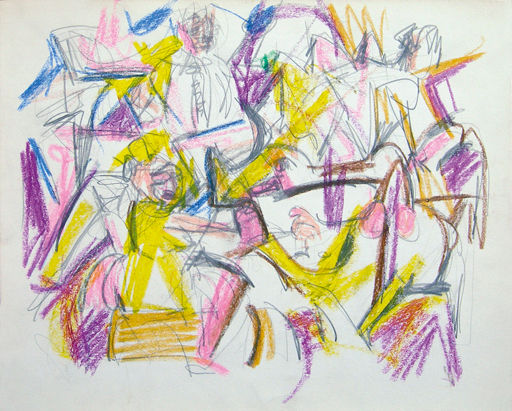 Art - Jack Tworkov, Untitled (Abstract Figures)