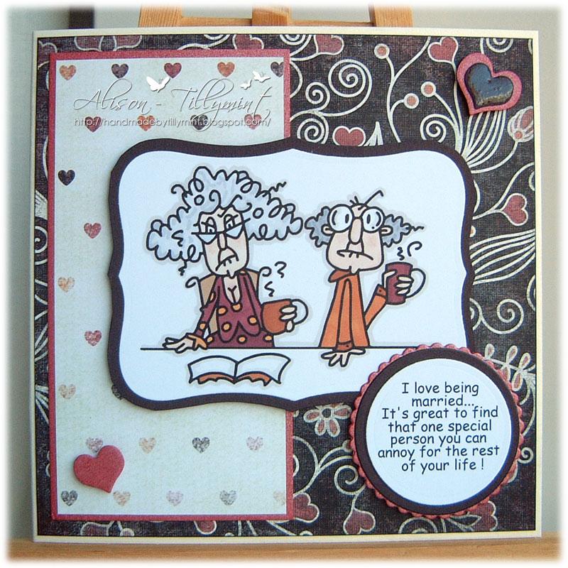 Handmade by tillymint an anniversary card for my husband