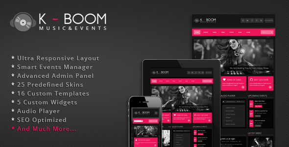 K-BOOM – Events & Music Responsive WordPress Theme