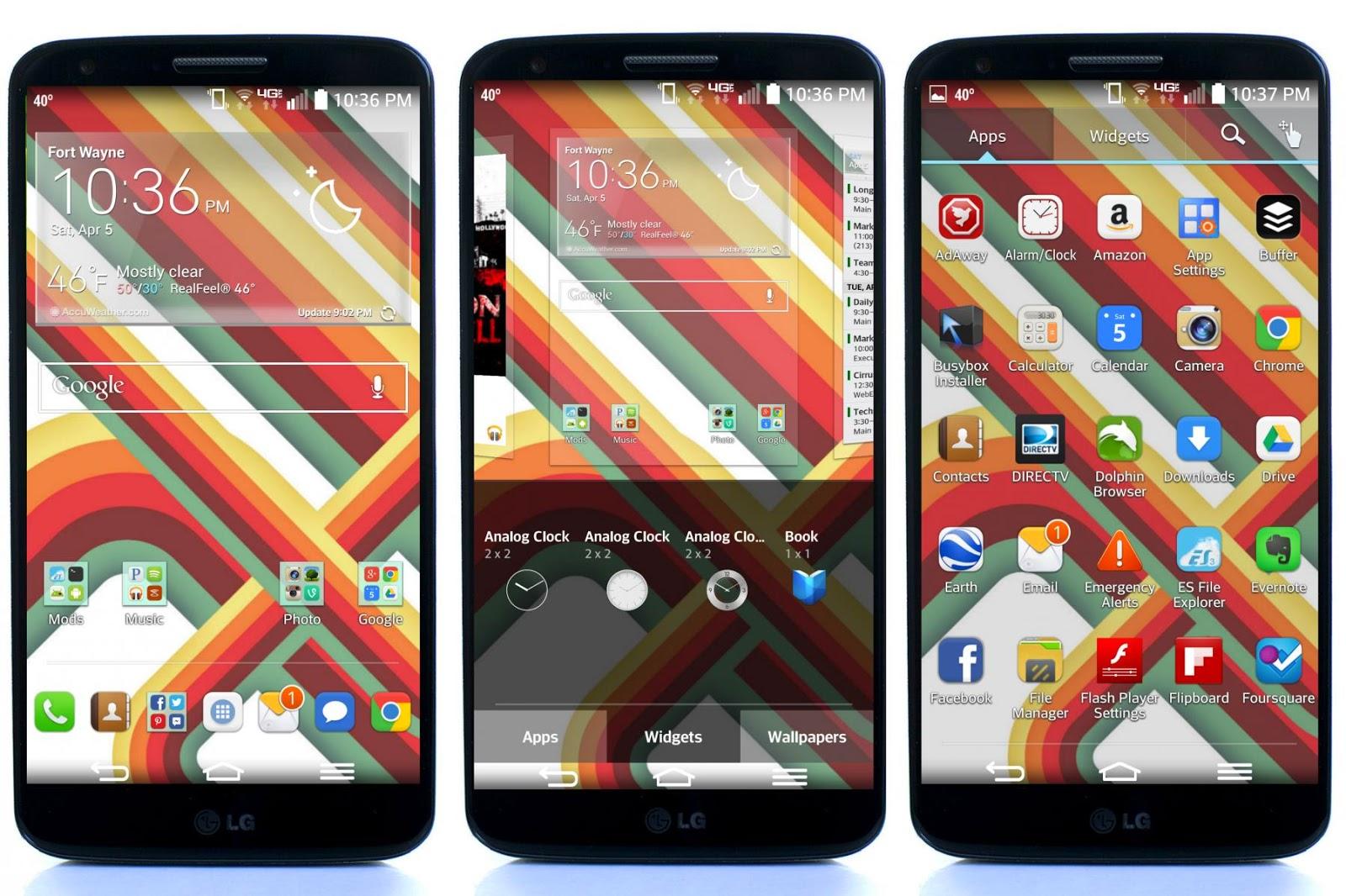 Temas para el Launcher del LG G2, G Flex y otros equipos LG [Se añade el tema MIUI6]