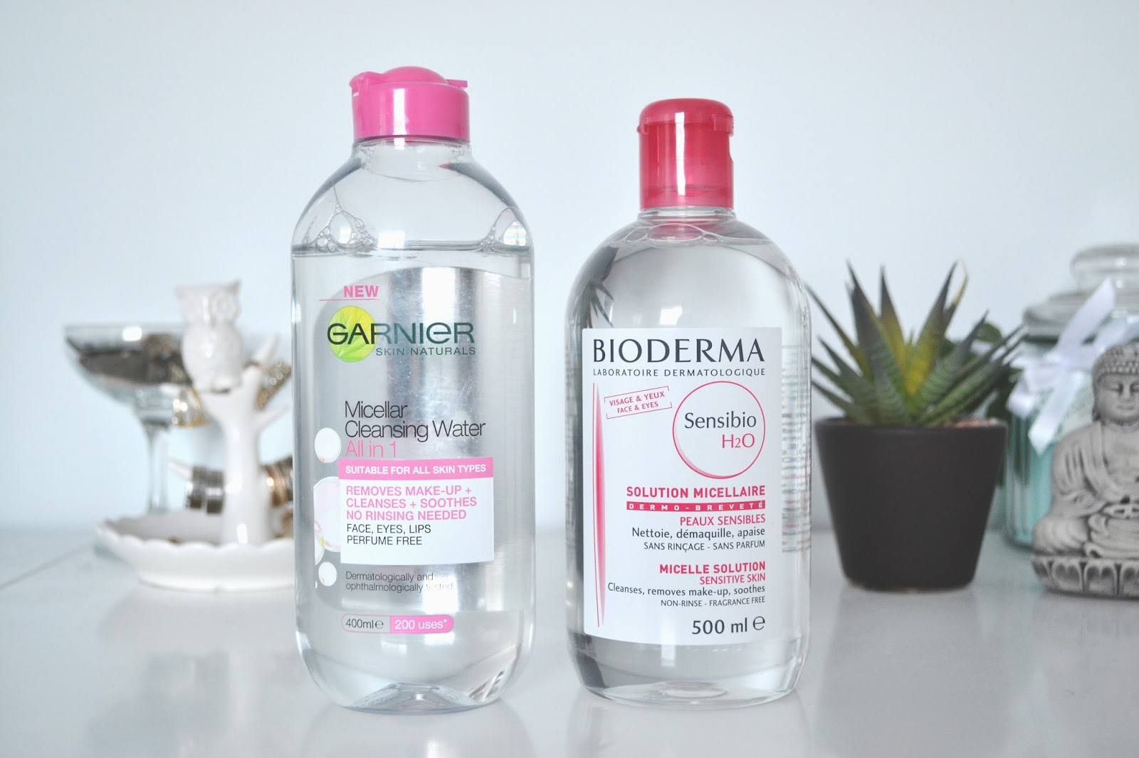 rêveriebelle beauty blog: Bioderma Sensibio H2O vs. Garnier ...
