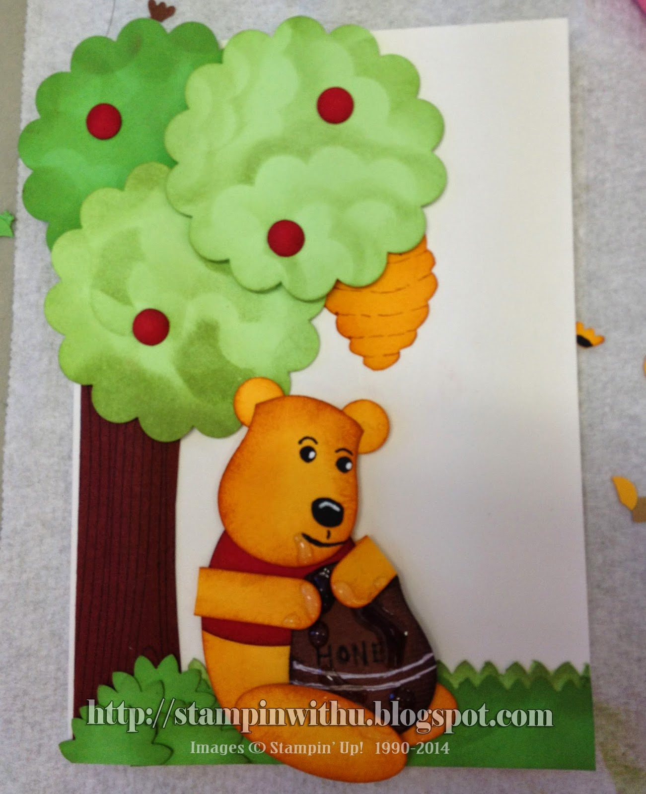 Pooh Bear & Bee Hive