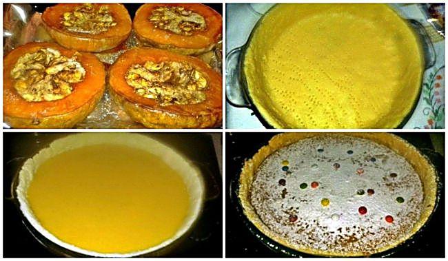 Preparación de la tarta de calabaza