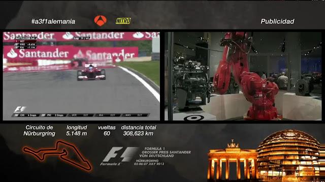 Carrera GP Alemania Formula 1 Julio 7 HD 2013 Español