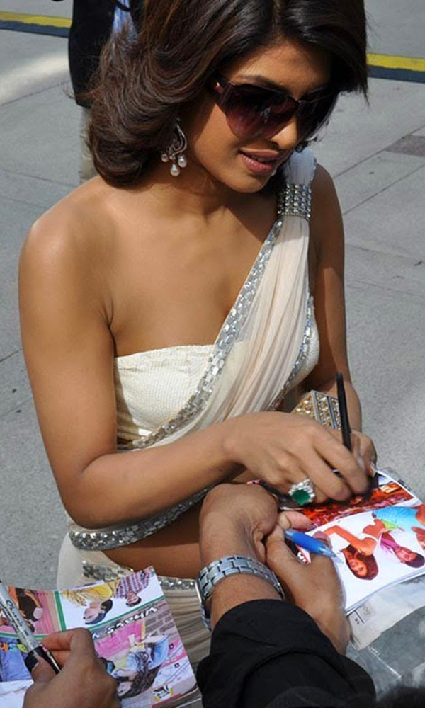 Priyanka Chopra in white saree