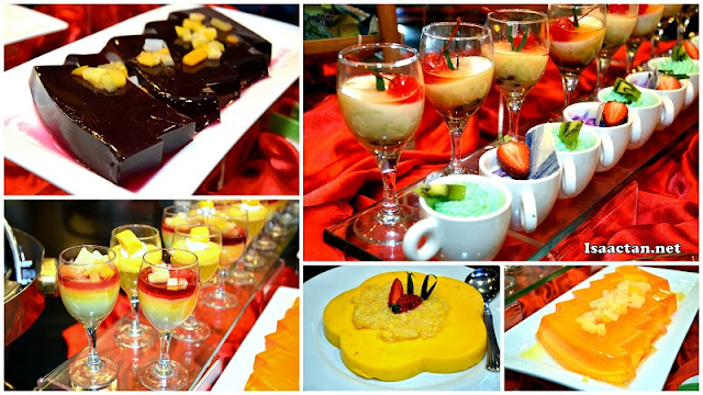 Colourful desserts