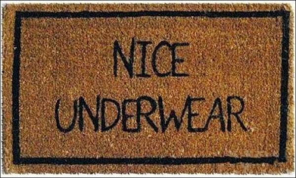 The unlikely orange april fools doormats - Novelty welcome mats ...