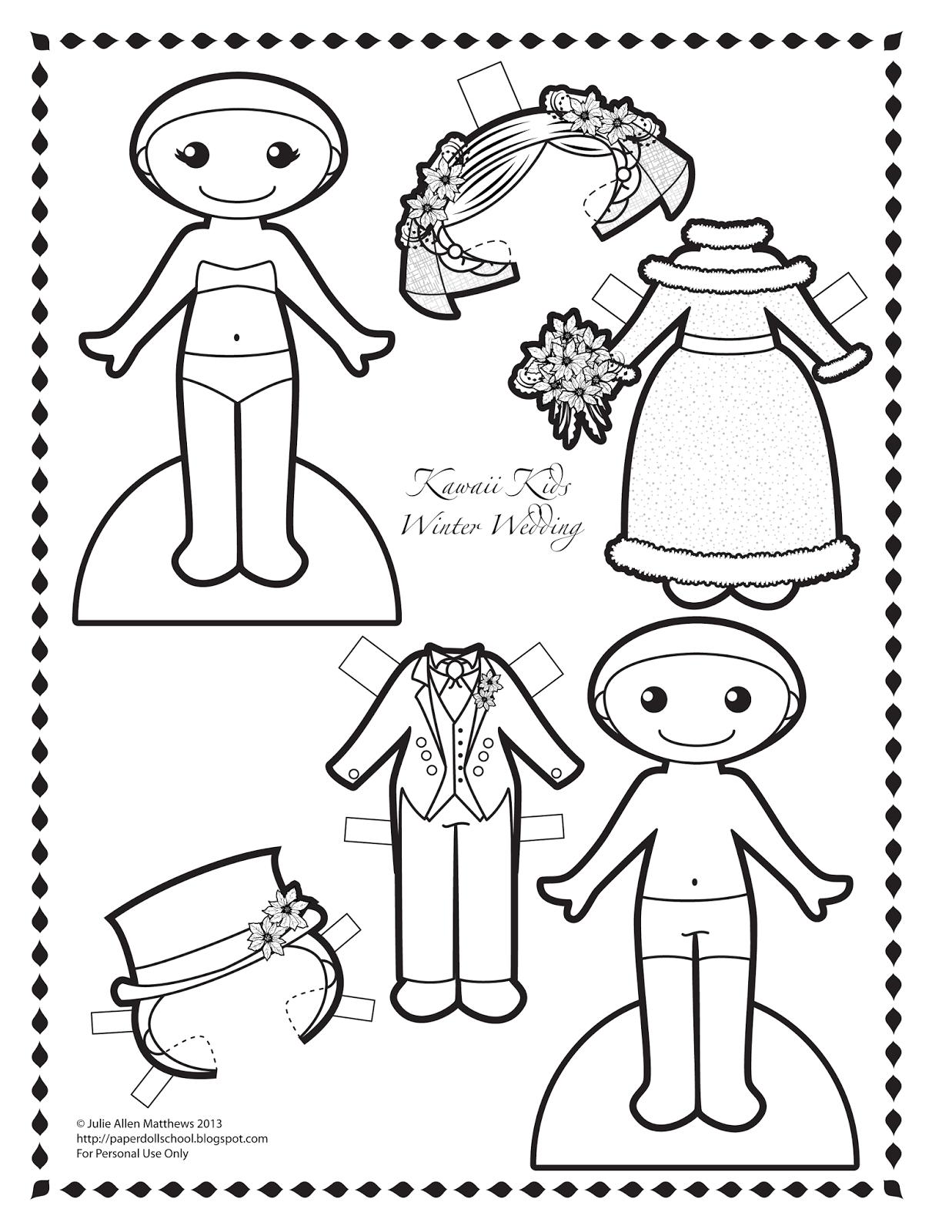 Как сделать куклу из бумаги, бумажные куклы с одеждой 71