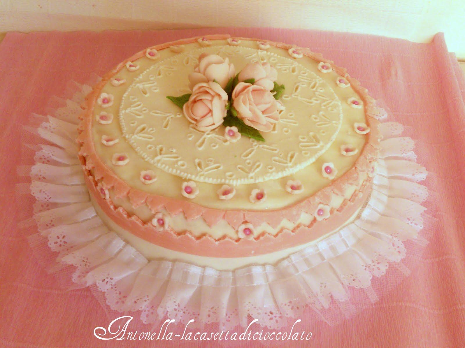 la casetta di cioccolato: torta romantica per Francesca