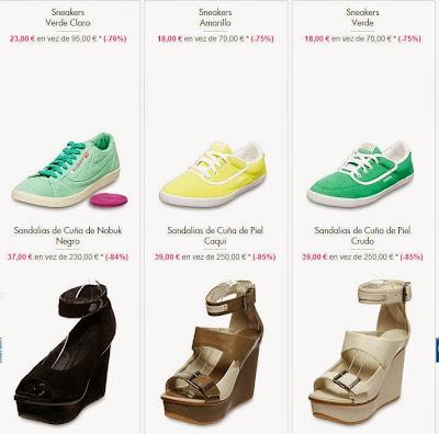 Sneakers y sandalias en oferta