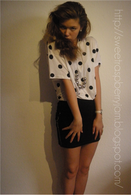 H&M, Polka Dot Shirt, Polka Dot Print, Mini Skirt