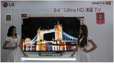 84 inch Ultra HD 3D TV LG